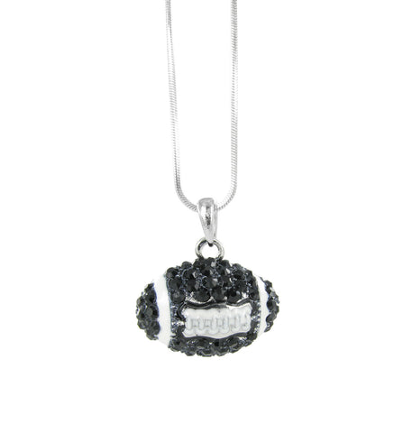 Dome Football Pendant Necklace