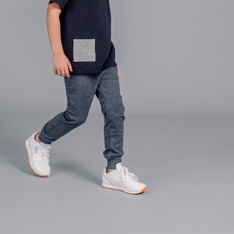 "Blue-Grey ""Oh What Fun"" Joggers"
