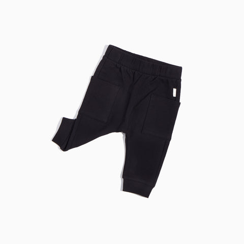 Homegrown Solid Black Jogger