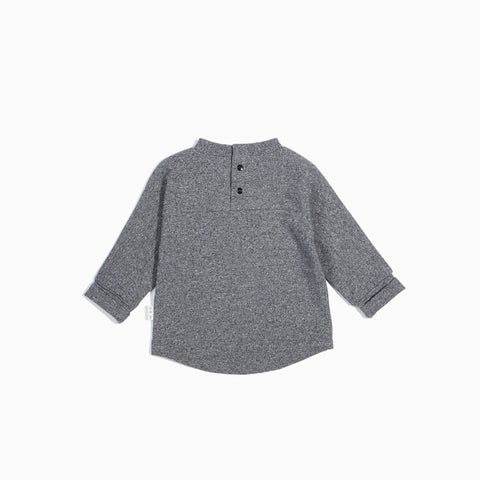 Heather Grey Long Sleeve Pine Trees Top