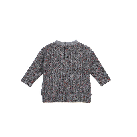 Heather Grey Long Sleeve ''Snow Day'' Top