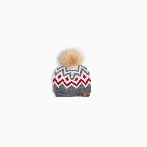 Heather Grey Fair Isle Knit Hat
