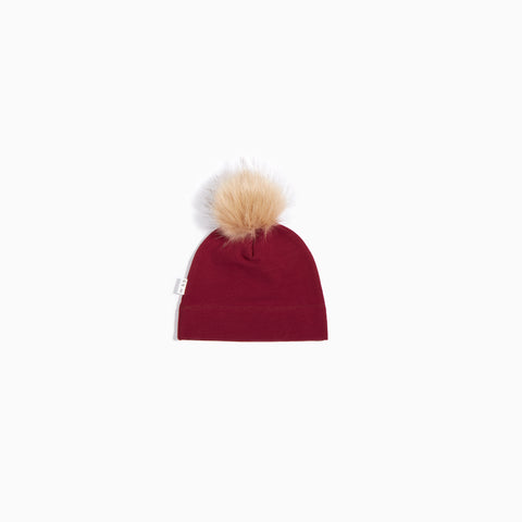 Brick Red Knit Hat