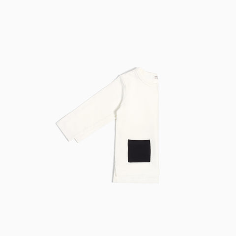 """Miles Basic"" Off White Long Sleeve T-Shirt"