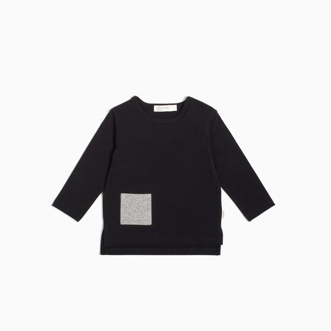 """Miles Basic"" Black Long Sleeve T-Shirt"