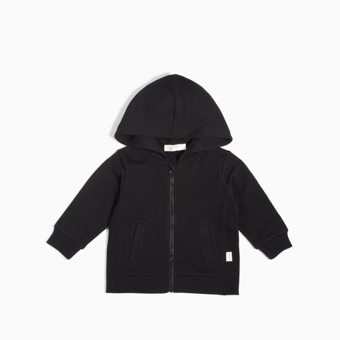 """Miles Basic"" Black Zip Up Hoodie"