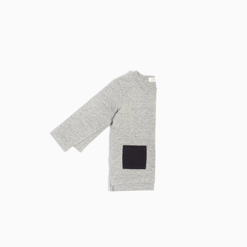 """Miles Basic"" Heather Grey Long Sleeve T-Shirt"