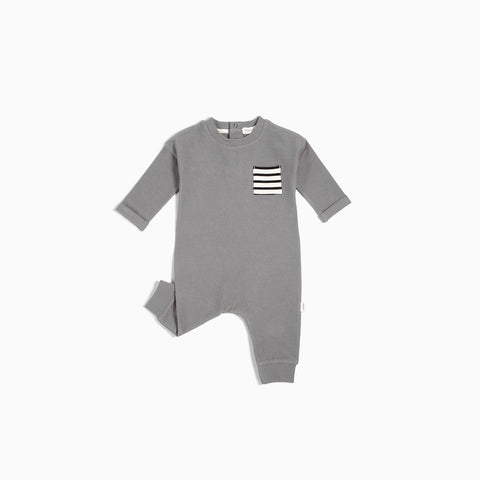"Charcoal Grey ""Be Kind, Rewind"" Playsuit"