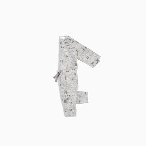 "Light Grey ""Play/Replay"" Playsuit"