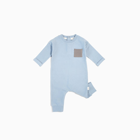 "Light Blue ""Be Kind, Rewind"" Playsuit"
