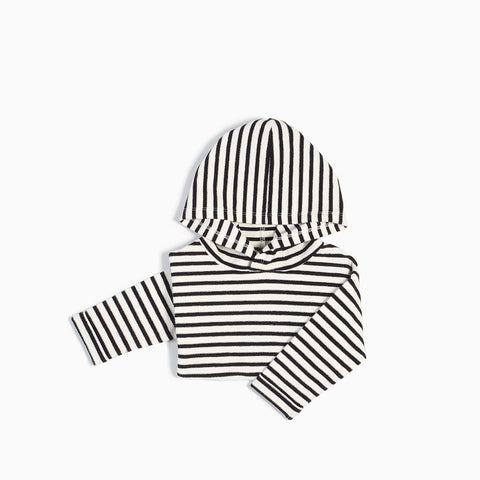 Black & White Striped Hoodie