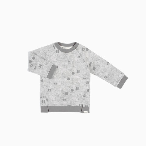 "Light Grey ""Play/Replay"" Crew Neck Sweater"