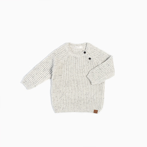 """White Noise"" Knitted Sweater"