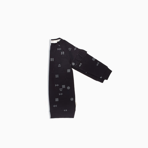 "Black ""Play/Replay"" Sweater Dress"