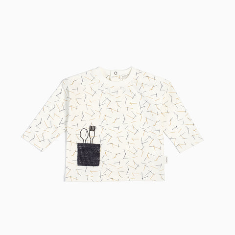 "Off-White ""Pasta"" Long Sleeve Top (3M - 24M)"