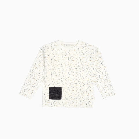 "Off-White ""Pasta"" Long Sleeve Top (2T - 7T)"