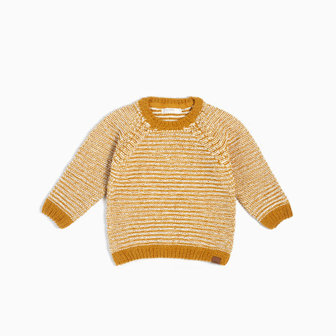 "Wheat ""It Pasta Be You"" Knitted Sweater"