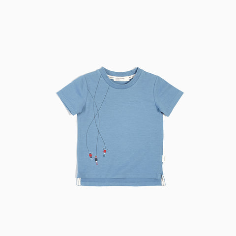 "Dusty Blue ""Skiers"" T-Shirt"