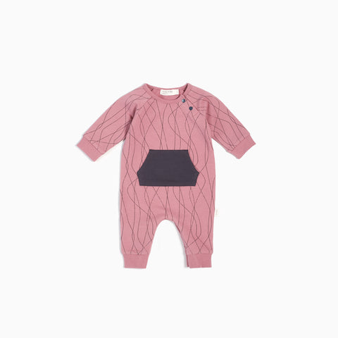 "Dusty Pink ""Ski Tracks"" Playsuit"
