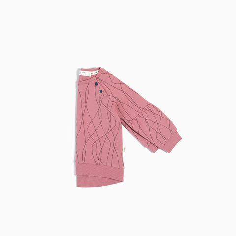 "Dusty Pink ""Ski Tracks"" Sweater"