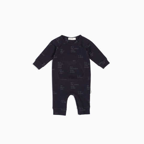 "Navy ""Oh What Fun"" Playsuit"