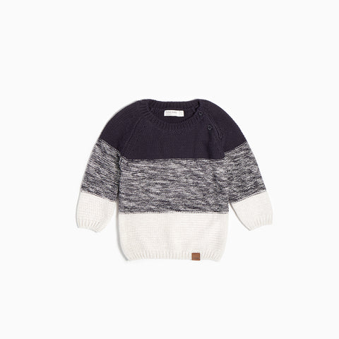 "Color Block ""Oh What Fun"" Knit Sweater"
