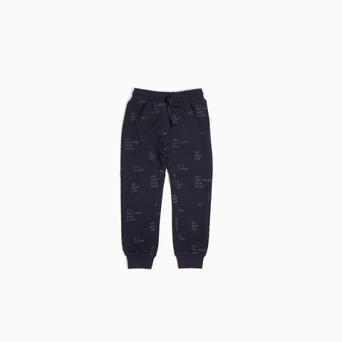 "Navy ""Oh What Fun"" Joggers"