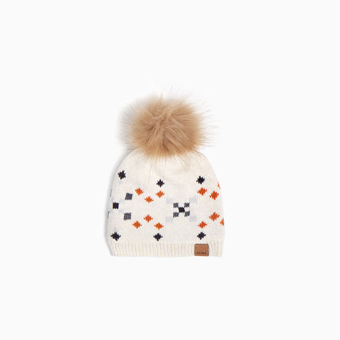 "Heather Beige ""Oh What Fun"" Knit Hat"