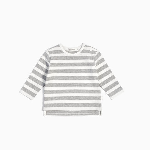 Striped Heather Grey Long Sleeve Top