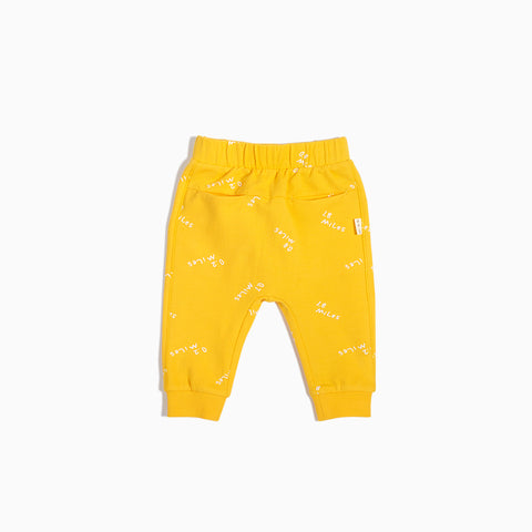 """Miles to Go"" Yellow Jogger"