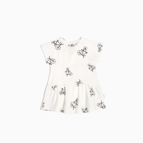 Off White Velo Dress