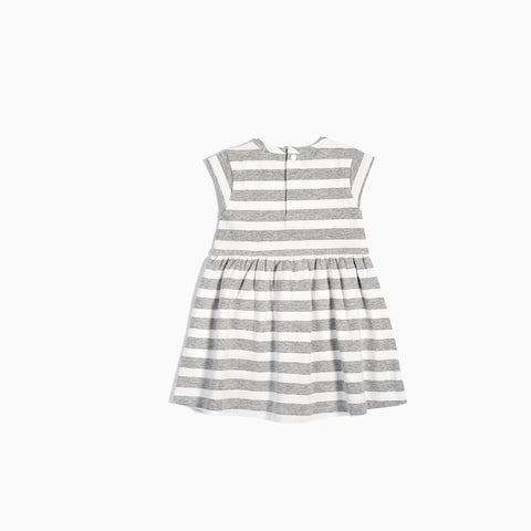 Striped Heather Grey Dress
