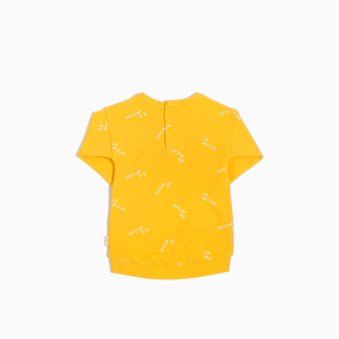 """Miles to Go"" Yellow Sweater Dress"