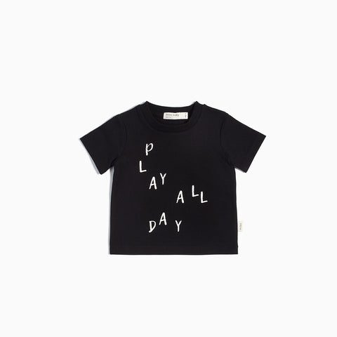 """Miles Basic"" Black Play All Day T-Shirt"