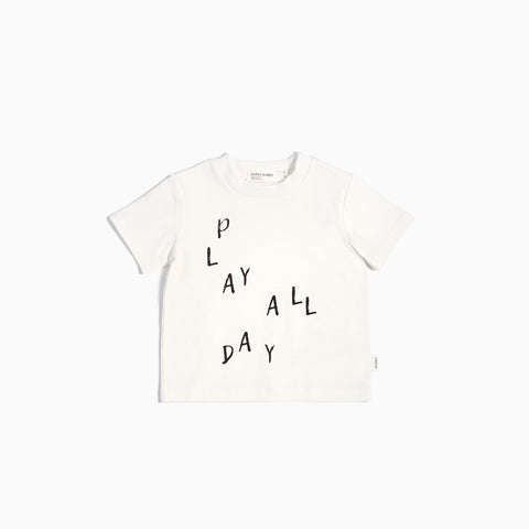 """Miles Basic"" Off White Play All Day T-Shirt"
