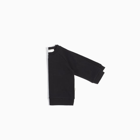 """Miles Basic"" Black Crew Neck Sweater"