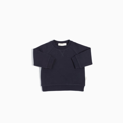 """Miles Basic"" Navy Crew Neck Sweater"