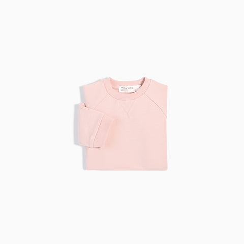"""Miles Basic"" Light Pink Crew Neck Sweater"