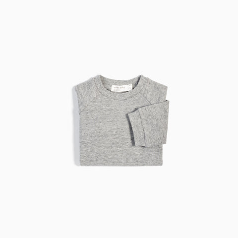 """Miles Basic"" Heather Grey Crew Neck Sweater"