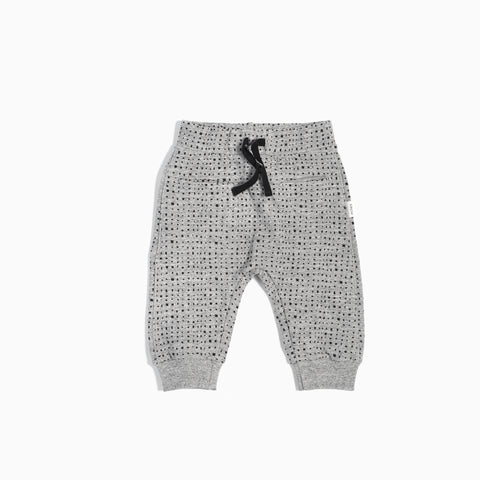 """Miles Basic"" Heather Grey Splashed Jogger"