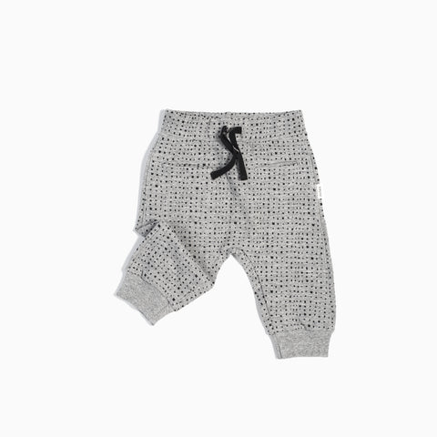 """Miles Basic"" Heather Grey Splashed Jogger (3M - 4T)"