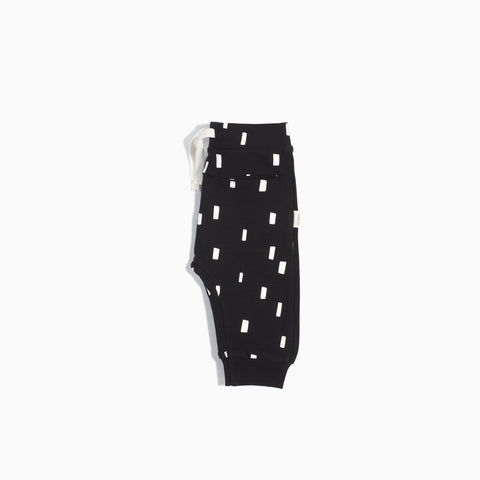 """Miles Basic"" Black Play Blocks Jogger (3M - 4T)"
