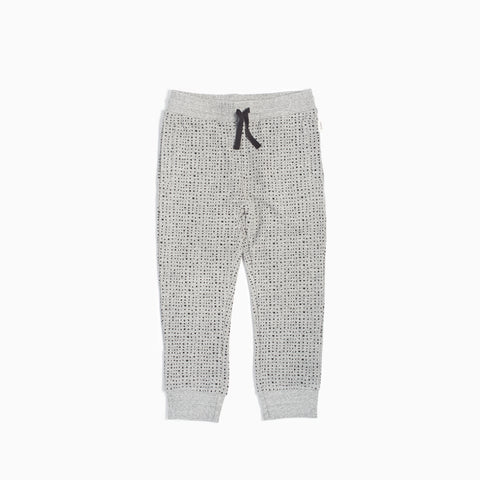 """Miles Basic"" Heather Grey Splashed Jogger (5T - 7T)"