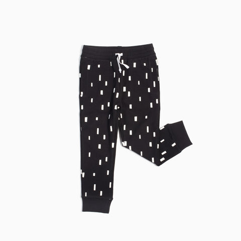 """Miles Basic"" Black Play Blocks Jogger (5T - 7T)"