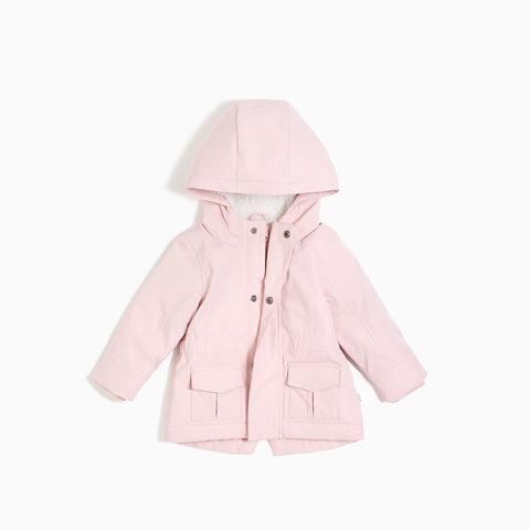 ''Miles Basic'' Light Pink Hooded Jacket