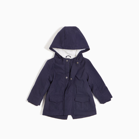 ''Miles Basic'' Navy Hooded Jacket