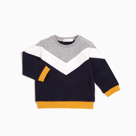 Colour Block Crew Neck Sweater