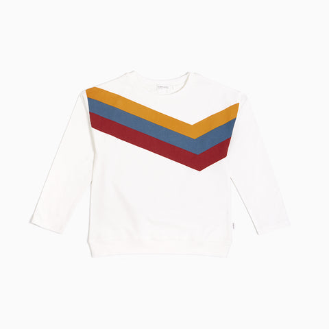"Off White ""Arcade Game"" Striped Crew Neck Sweater"