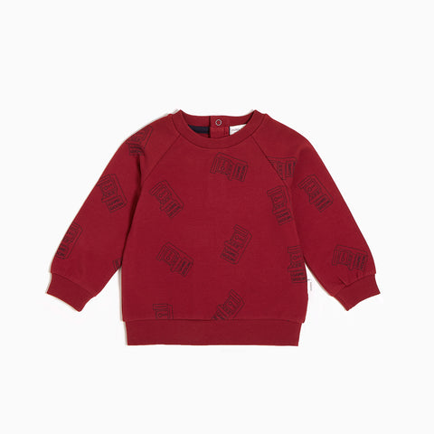 "Red ""Arcade Game"" Crew Neck Sweater"