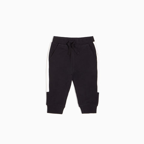 Black Jogger with White Sideband